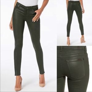 7 for Mankind coated skinny jeans